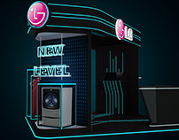 LG Twin Machine Booth