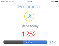User Interface Design - Health/Fitness Tracking App
