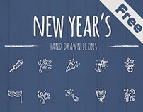 New Year's Icons Freebie