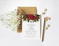 N+J Wedding Invite Package