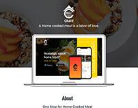 Website- Food App Advertising Page