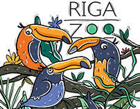 Set of illustrations for Riga Zoo