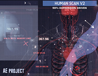 Human Scan V2 - (After Effects Template )
