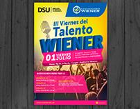 Afiche impreso para campaña en Universidad Wiener