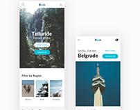 Travel Social Landing Mobile