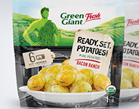 Mini potatoes supermarket packaging design