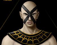 Pharaonic superhero painting