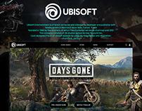 Web UI/UX design | UBISOFT