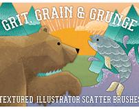 Grit, Grunge & Grain Scatter Brushes