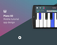 Piano 3D — Mobile App Design