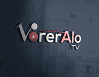 VorerAlo tv logo design