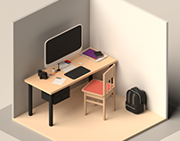 Project Spaces - Isometric Dimension Scenes