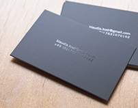 absolute minimalistic buisness card