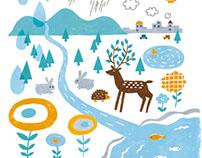 Organic brochure cover illustration
