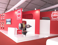 CFM stand on India Aviation Hyderabad