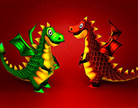 """Smash Frenzy 3. """"World of dragons"""". Low-poly."""
