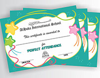 Certificate: Perfect Attendance