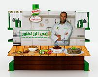 Knorr , floor display