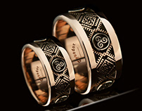 Slavic jewelry, Slavic wedding rings - Tyvodar.com