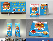 Burger Restaurant Advertising Bundle Template Vol.2