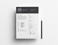 Free Infographic Resume with Simple Style Design