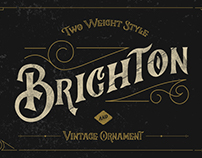 Brighton Typeface & Ornaments