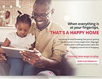 hhgregg Brand Landing Page | happy home