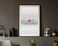 Free Office Interior Frame Poster Mockup PSD