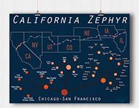 California Zephyr Posters