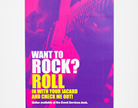 Want To Rock Poster and Guitar