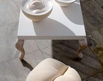 Milk ceramic & wood 2009