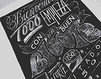 Custom Chalk Lettering / Barbería Poniente