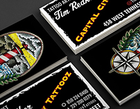 Capital City Tattooz Business Cards