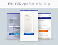 Free PSD App Screen Mockup
