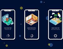 Travel App Onboarding concept