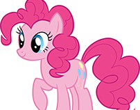 Pinkie Pie traced in Photoshop