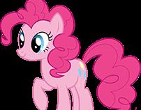 Pinkie Pie traced in Photoshop