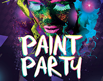 Paint Party Poster - Box Nightclub