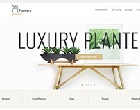 E-commerce Design for Luxury Planters