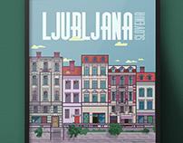 Ljubljana Illustration