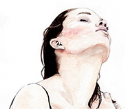 Girls portrait illustrations -Watercolors