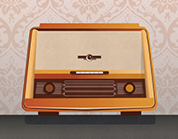 Vintage Radio Illustration