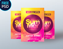 Free Flyer Templates - Summer PSD