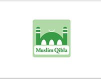 Muslim Qibla app logo design.
