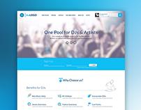 Material Design DJ website