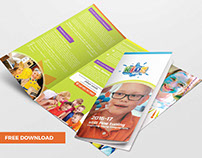 Kid's School Trifold Brochure Template (FREE DOWNLOAD)