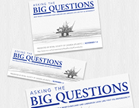 Asking The Big Questions  |  Poster, Ad design