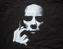 painting on textile t-shirt painting