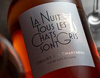 """Wine Label """"La nuit tous les chats sont gris"""""""