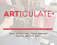 ARTICULATE - Hand controlled, voice operated drawing